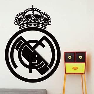 Utopiashi Soccer Ball Football Club Real Madrid Logo Vinyl Wall Sticker Decal Fan Boy Room