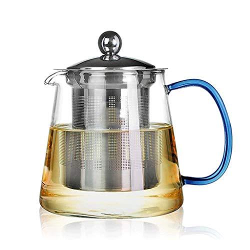 Hoge temperatuur weerstand NHL hittebestendig glas bloempot theepot zwarte thee met Pu'er Kung Fu thee ceremonie roestvrij staal filter Liner 480ml