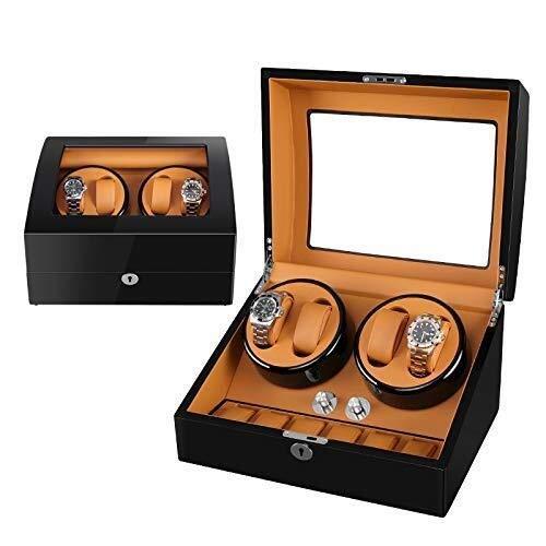 GLXLSBZ Automatikuhr-Uhrbox, Wickeluhrbox Armbanduhr Mechanische Uhren Motor Shaker Automatischer mechanischer Uhrenbeweger Multi-Bit-Stummschaltung Antimagnetbox-Plattenspieler