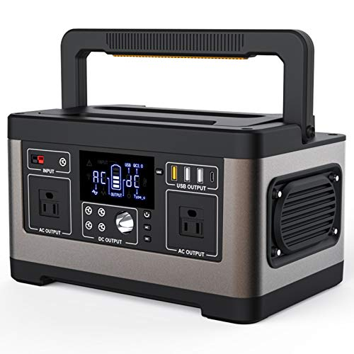 JHKJ 500W Portable Power Station,140400Mah Backup Lithium Battery Pack Camping Emergency Powered Generator with 110V/220V AC Outlet