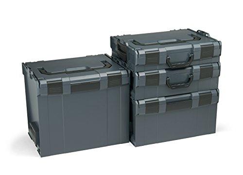 Bosch Sortimo L-Boxx Werkzeugkoffer Set | Größe 102-374 in Anthrazit | Bosch Werkzeugkoffer Leer | Kompatibel mit L-Boxx