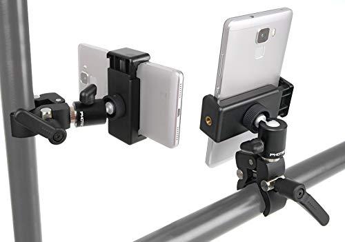 """Photecs® Universal Klemm-Halterung, iPhone Stativ-Klemme, Klemm-Halter mit 1/4\""""-Anschluss, für Handy, Smartphone, Überwachungskamera (z.B. Arlo, Reolink etc.), IP-Kamera, WLAN-Cam, Leuchten etc."""
