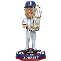 """FOCO MLB Chicago Cubs Ben Zobrist Unisex Zobrist B. #18"""" 2016 World Series Champions 8"""" Bobble"""