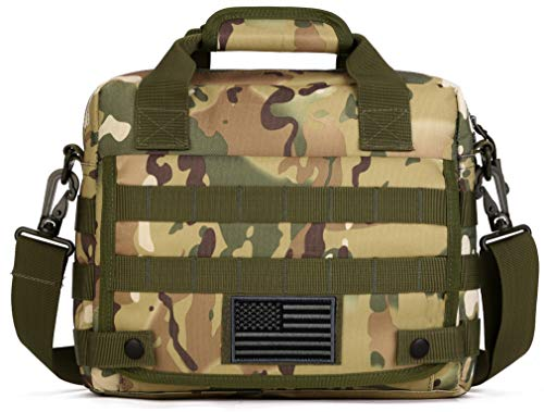 Protector Plus Tactical Messenger Bag Men Military MOLLE Sling Shoulder Pack Tool Briefcase Assault Gear Handbags Case Outdoor Utility Carry Satchel (Patch Included), CP