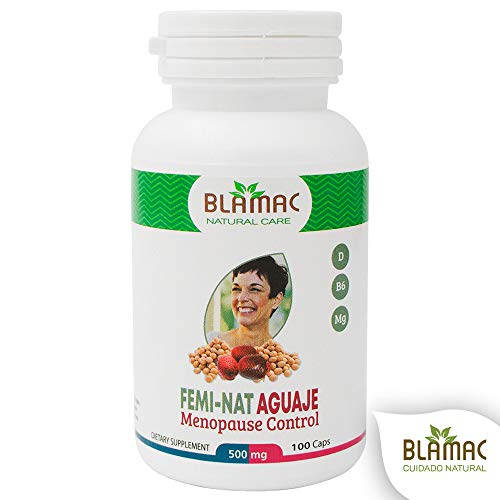 Aguaje Fruit Supplement | 100 Capsules of 500 MG of Menopause Supplements for Women | Female Hormone Balance | Phytoestrogens for Natural Improvement of Curves, Rear and Bust - by Blamac