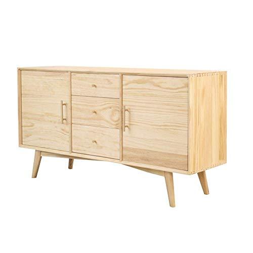 Wohnausstattung Couchtisch für Wohnzimmer Sideboard Aufbewahrungsschrank Sideboard Schrank Küchenbuffet Aufbewahrung Esszimmerschrank Tisch mit 2 Türen und 3 Schubladen für Schlafzimmer Zimmer (Far