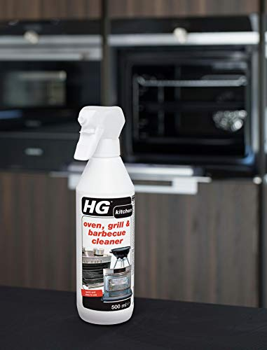 HG 138050106 Oven, Grill and Barbeque Cleaner 500 ml Removes Baked On Food and Burnt-in Grease in No Time