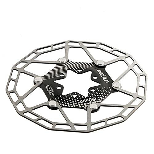 SHHMA Rotor de Freno de Disco de Bicicleta, Pastilla de Freno de Disco Flotante, 160mm, 6 Pulgadas, Accesorios de Disco de Freno de Disco para Bicicleta de montaña y Carretera,Negro