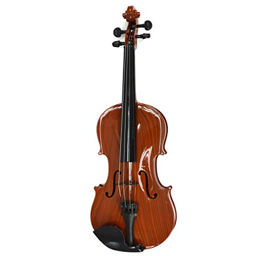 Violin for Kids - Includes Bow and Rosin - Musical Toys for Toddlers - Adjustable Strings, Chin Rest, (Natural Brown)