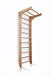 Dani Wall Bars KN-01-220, 87 in Wooden Swedish Ladder Set: Pull Up Bars for Training and Physical Therapy - Used in Homes, Gyms, Clinic, and Schools