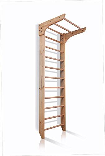 Kletterwand Sprossenwand mit Stange Sportgerät Kinder-1-220 Fitness Kinder Gym Turnwand Klettergerüst Holz Kind