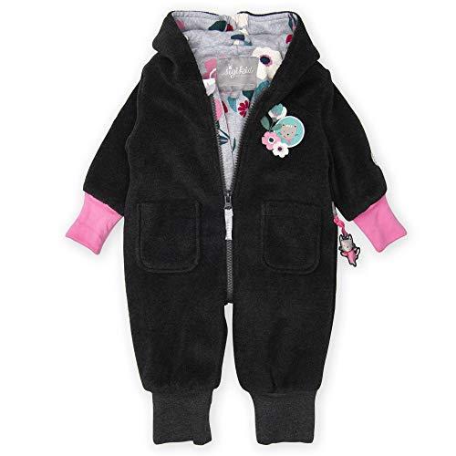 Sigikid Baby - Mädchen Fleeceoverall mit Kapuze Bekleidungsset,, per pack Grau (grau 82), 80 (Herstellergröße: 80)