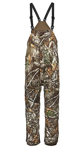 ScentLok Mens Hunting Clothes - Hydrotherm Waterproof and Windproof Camo Primaloft Insulated Bib - Adjustable Fit
