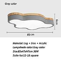 シーリングライト リモコンの天井灯の照明器具が付いている子供の部屋のリビングルームの雲の形のためのLEDの天井ライトマカロンの色 (Body Color : Gray 83x47x7cm, Emitting Color : Cool white NO remote)