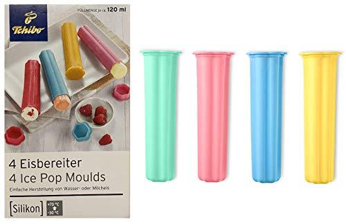 TCM Tchibo Silikon Eisbereiter Eismaker 4er Set Eisformen Wassereis Milcheis