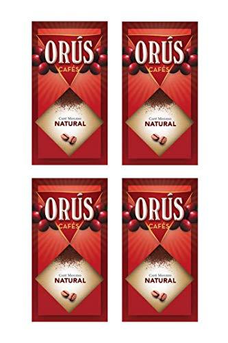 Café molido Natural - Pack de 4 estuches (de 250 gramos cada uno) - Cafés Orús.