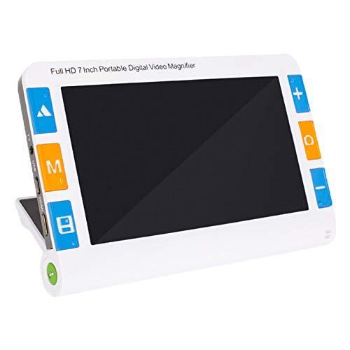 電子ルーペ デジタル 拡大鏡 7インチ液晶画面 高級携帯型拡大読書器 2倍〜約32倍 拡大読書器 1024*600高画質TV出力(HDMI) 日本語扱い説明書付き (7.0 インチ拡大鏡)