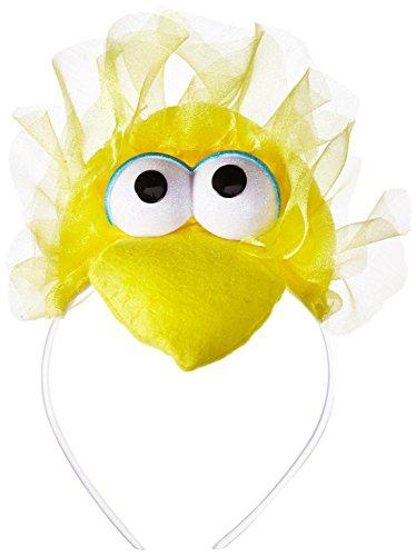 Disguise Women's Sesame Street Big Bird Adult Headband Costume Accessory, Yellow, One Size