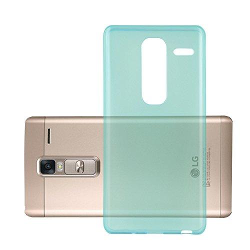 Cadorabo Hülle für LG Class - Hülle in TRANSPARENT BLAU – Handyhülle aus TPU Silikon im Ultra Slim 'AIR' Design - Silikonhülle Schutzhülle Soft Back Cover Case Bumper