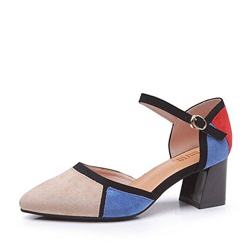 GTYW Elegantes Sandalias para Mujer Stilettos Terciopelo Mirada Zapatos De Fiesta Cordones...