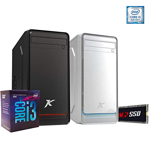 Pc desktop intel i3 8100 3.60ghz Quadcore,Ssd m.2 256 GB,Ram 8gb ddr4,Windows 10 Professional,Masterizzatore Lettore Cd Dvd,Wi F,Pc assemblato ufficio
