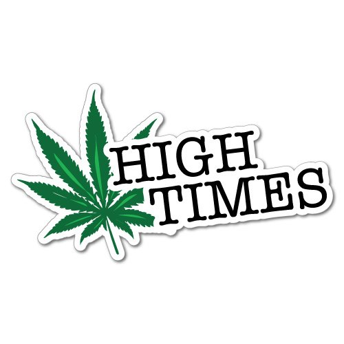 High Weed Leaf Sticker Decal 420 Dope Car Funny
