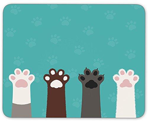 TuMeimei Non-Slip Rubber Cute Animal Hands Mouse Pad