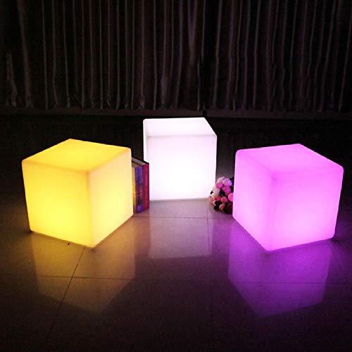 Luz De Noche Al Aire Libre Led Muebles Iluminados Barra De Luz Fiesta Boda Ktv Pub Decoración Cubo Luminoso Taburete Silla Colorido Paisaje Lámpara-20_X_20_X_20_Cm
