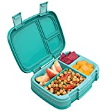 Bentgo Fresh (Aqua) – New & Improved Leak-Proof, Versatile 4-Compartment Bento-Style Lun...