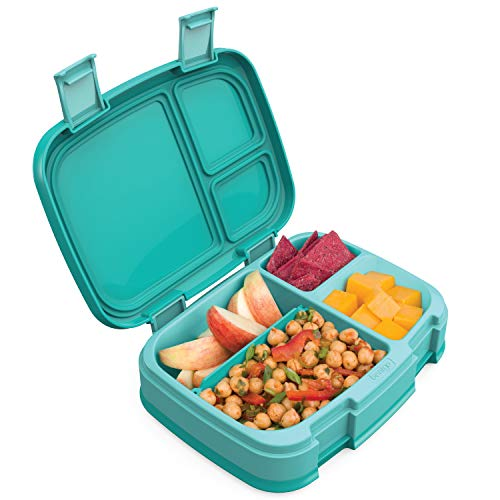 Bentgo Fresh (Aqua) - New & Improved Leak-Proof, Versatile 4-Compartment Bento-Style Lunch Box - Ideal for Portion-Control and Balanced Eating On-The-Go - BPA-Free and Food-Safe Materials