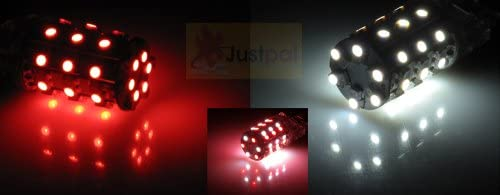 One Pair 3157 Red White 60 SMD Light Free shipping bulbs 2 Dual excellence Color LED