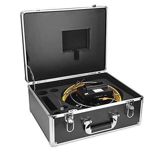 Pwshymi Cámara de Video de aleación de Aluminio Impermeable Sensible Recargable Endoscopio de alcantarillado de Drenaje de Mano para exploración(20 Meters)