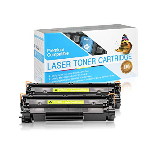 SuppliesOutlet Compatible Toner Cartridge Replacement for HP 83A / CF283A (Black,2 Pack)