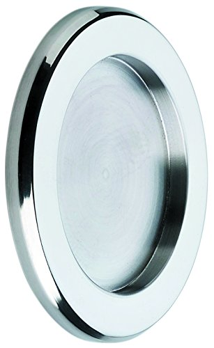 Tirador Inoxidable para puerta corredera cristal (Incluye adhesivo doble cara 3M). Venta por juegos de 2 uds.Grosor sólo 5 mm.BRILLO.