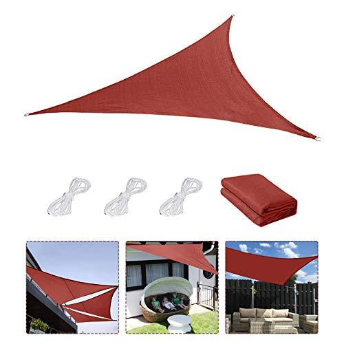 Sonnensegel,Sonnenschutz Sonnendach Windschutz mit UV Schutz wetterbeständig Segel Schatten UV-Schutz sonnensegel Dreieckig für Garten Outdoor Terrasse Balkon Lawn 3×3×3M (N)
