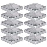 10 x Pfostenkappe für Zaunpfosten (121x121 mm) | Verzinktem Stahl | Pyramiden Form | Abdeckkappe...