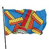 ALLdelete# Flags Hermosa Bandera Bandera de Patio de casa Papas Fritas y Salsa de Tomate Bandera de Moda Jardín Banderas de Patio al Aire Libre 3x5 pies