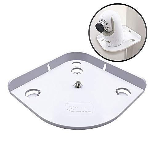 Baby Monitor Mount (White) - Corner Camera Shelf Compatible with Infant Optics DXR-8 DXR-5 Arlo Baby Babysense 7 Hello Baby Motorola - Universal Wall Mounts Crib Cam Holder for Infants Video