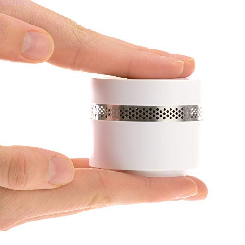 Rauchmelder - Sicherheit kombiniert mit schöner Optik - Rauchmelder 10 Jahre Batterie - Mini Feuermelder extra-klein - Weiß
