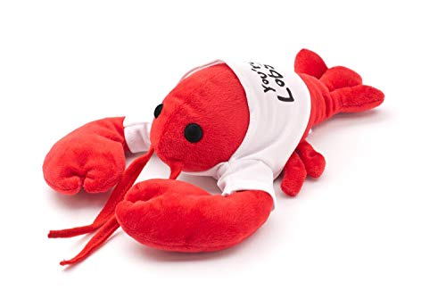 "Friends You're My Lobster Plush – Cool TV Props Friends Lobster Stuffed Animal Plush – Ross Geller Rachel Green Lobster Stuffed Animal in Cute White T-Shirt – 8"" (20cm) Head to Tail, 6"" (15cm) Claw to"