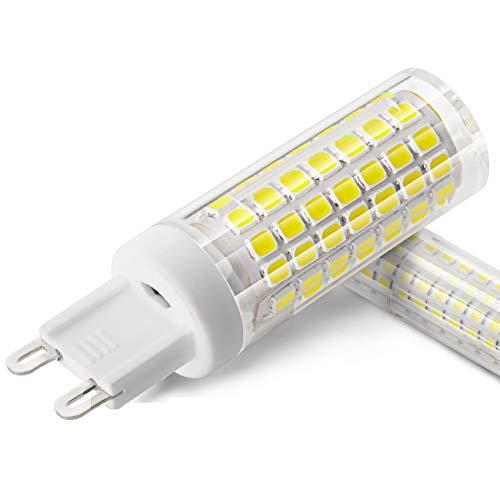 XIX LED Ampoule G9 6W Equivalent 70W Ampoules Halogènes/Incandescente 6000K lumière du jour blanc AC 90-265V 690LM, Pas de Scintillement, Non-Dimmable, Lot de 2