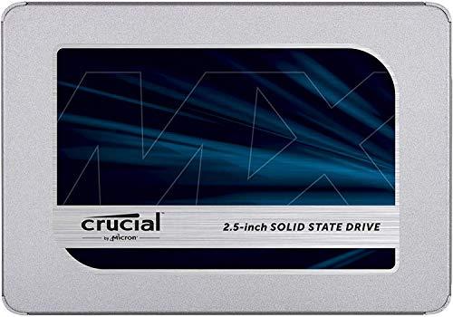 Crucial MX500 500 GB CT500MX500SSD1(Z)-Up to 560 MB/s (3D NAND, SATA, 2.5 Inch, Internal SSD), Metallique