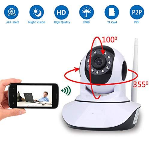 ZXL Überwachungskamera 2MP Wireless Wi-Fi P2P HD 1080P Infrarot Baby Monitor Zwei-Wege-Gegensprechanlage IP Kamera für Innen und Außen Home Security L 16GB