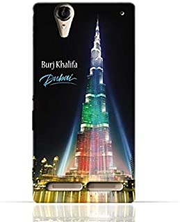 Sony Xperia T2 Ultra TPU Silicone Case with Burj Khalifa Illuminated with UAE Flag Colors - Dubai Design