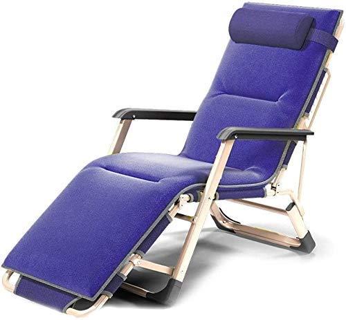 PARTAS Patio Silla Silla Chaise Lounge Plegable Sillón Sillón Almuerzo Silla Silla Oficina Cama Respaldo Lazy Beach Silla Casual Cama Plegable (Color : B)