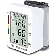 Wrist Blood Pressure Monitor, Hong S Accurate Clinical High Blood Pressure Monitor with 120 Set Memory Voice Broadcast and Large LCD Screen for Home Use