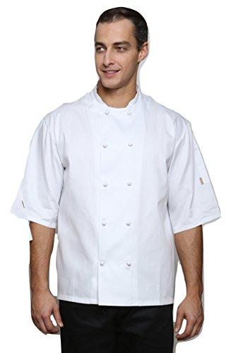 Mirabella Health & Beauty Chaqueta unisex de manga corta para chefs de acedera Blanco blanco M