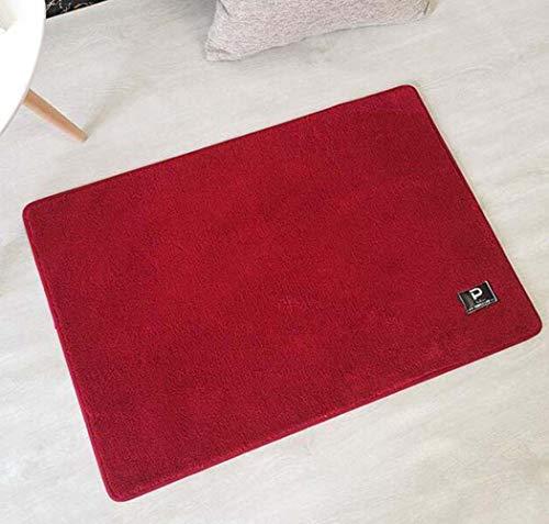 Fußmatte Badezimmer Mat Mat saugfähiger Tür-Mat Teppich Dicker weicher Plüsch-Mat Kriechende Matte des Babys,Rot,60X90cm