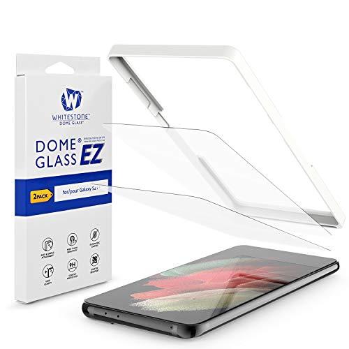 [2枚セット] [EZ Glass] 強化ガラスフィルム、液晶保護フィルム(9H硬度、冶具付き、簡単な貼り付け・貼り直し)(Galaxy S21 Plus用)