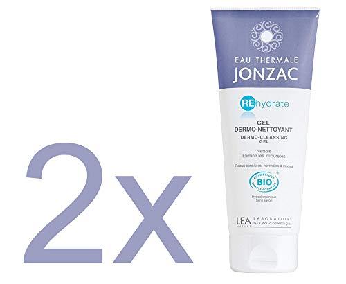 Jonzac - Agua termal Gel dermontoyante facial 200 ml – Cosmética orgánica (lote de 2)